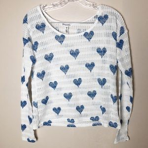 Aeropostale Heart Knit Pullover Top NWT XS
